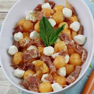 Cantaloupe Prosciutto Mozzarella Salad