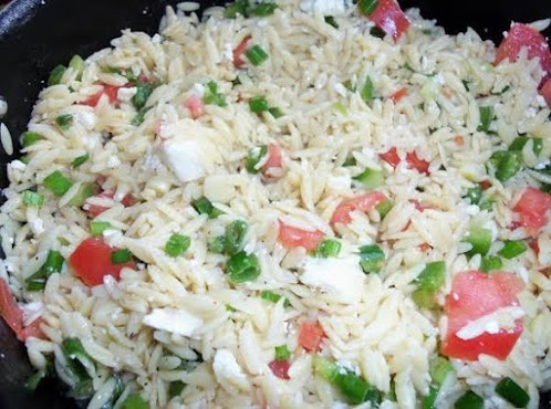 Click Here for Recipe: Orzo Feta Garlic Salad {for the garlic lovers!}