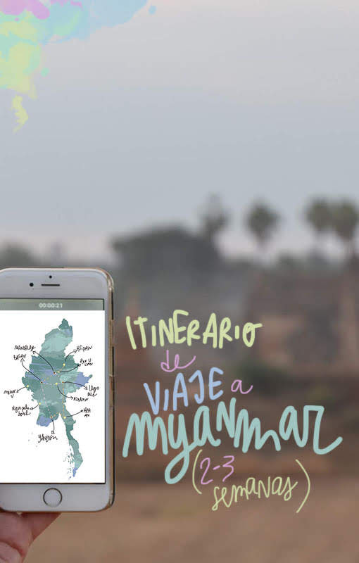 ruta viaje myanmar