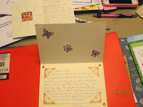 Photo: thank you card from Alyson for her RED-uation
