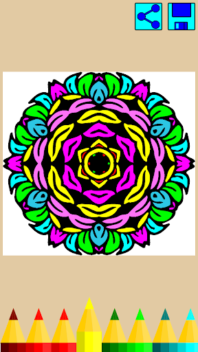 Coloring book: Mandala Flowers  screenshots 5