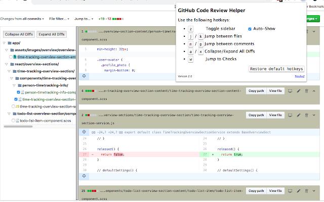 GitHub Code Review Helper