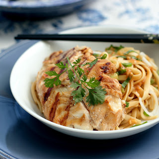 Sesame Noodles with Grilled Cod