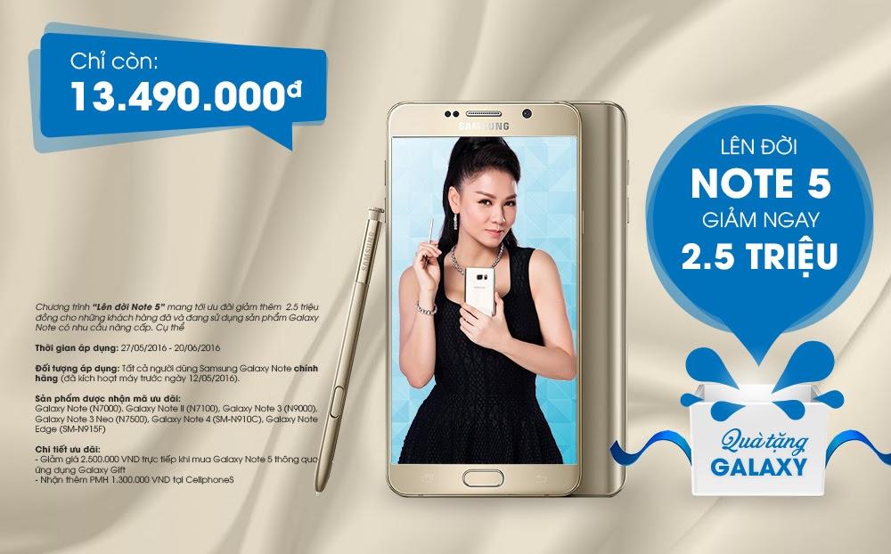 Lên đời Samsung galaxy Note 5 - Ưu đãi tiền triệu