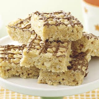 Puffed Rice, Honey and Peanut Bars.