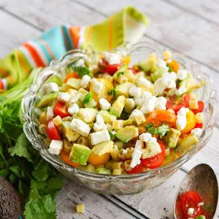 Greek Avocado Pasta Salad.
