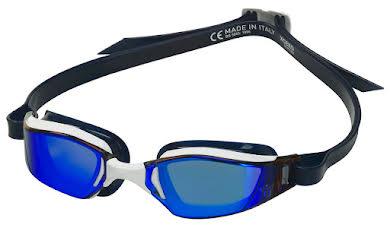 Michael Phelps Xceed Goggles - White/Black with Blue Titanium Mirror Lens alternate image 0