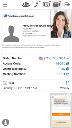 Free Conference Call 1.5.20.0 screenshots 2