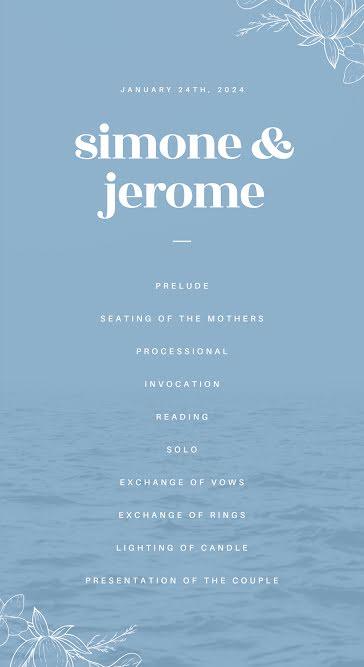 Simone & Jerome Ceremony - Wedding template