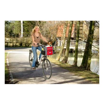 Cykelkorg Nylon Grå/Röd 38x28x27cm Max.7kg