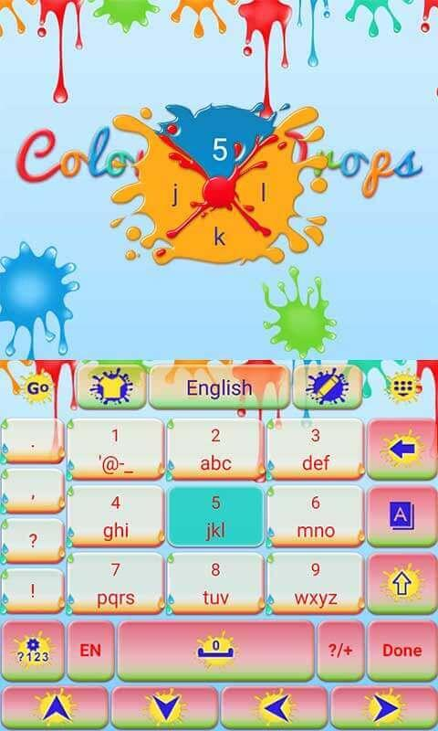 Colorful-Drops-Keyboard-Theme 8
