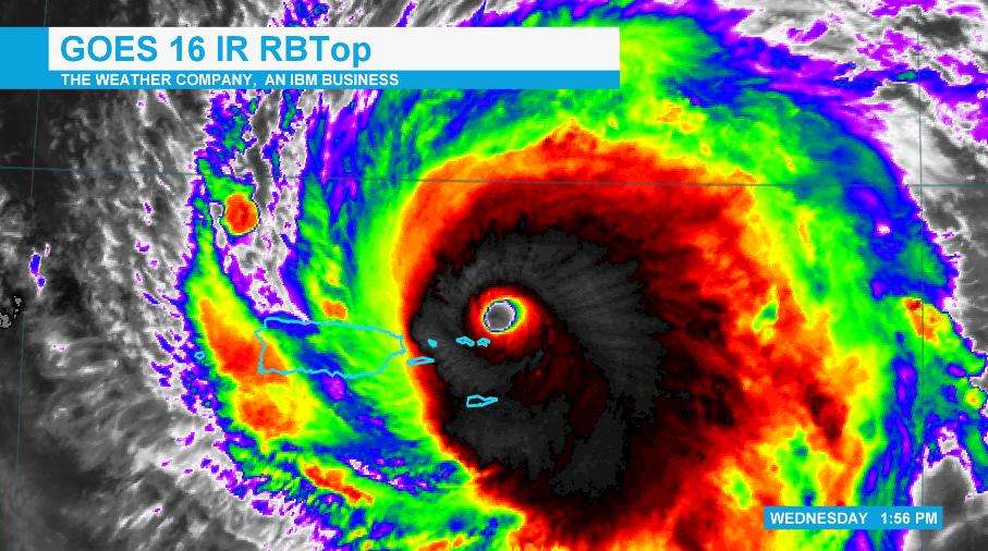 Hurricane Irma GOES-16 IR RBTop Scene