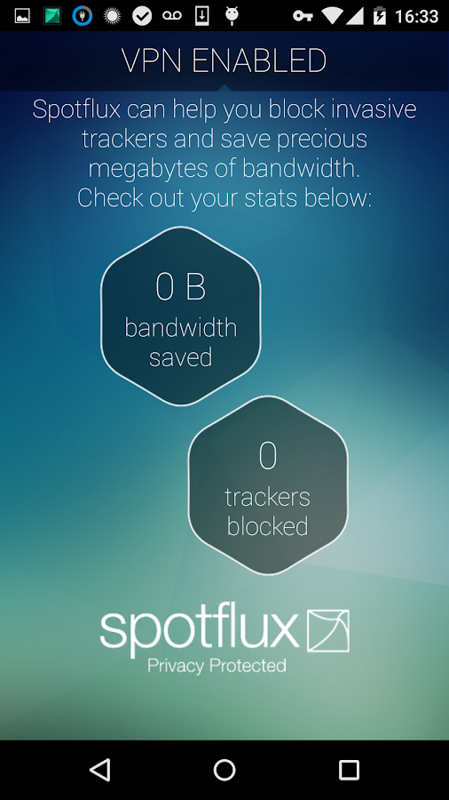 Spotflux VPN- screenshot