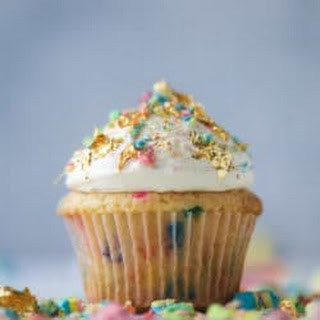 Lucky Charms Cereal Milk Confetti Cupcakes.