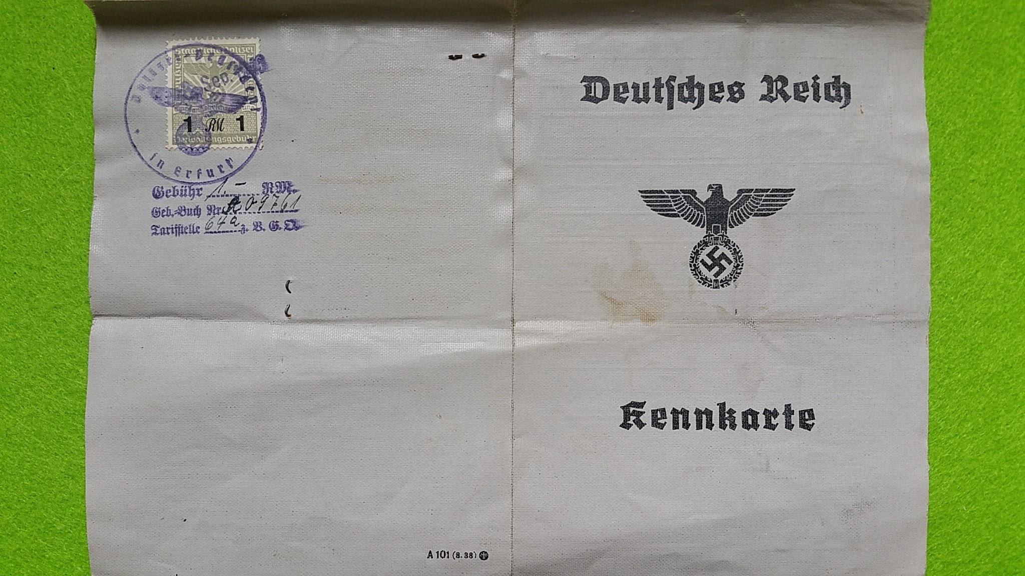 Kennkarte im Dritten Reich