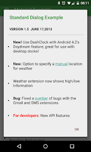 ChangeLog Library Demo screenshot 1