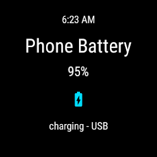 Phone Battery for Android Wear Screenshot