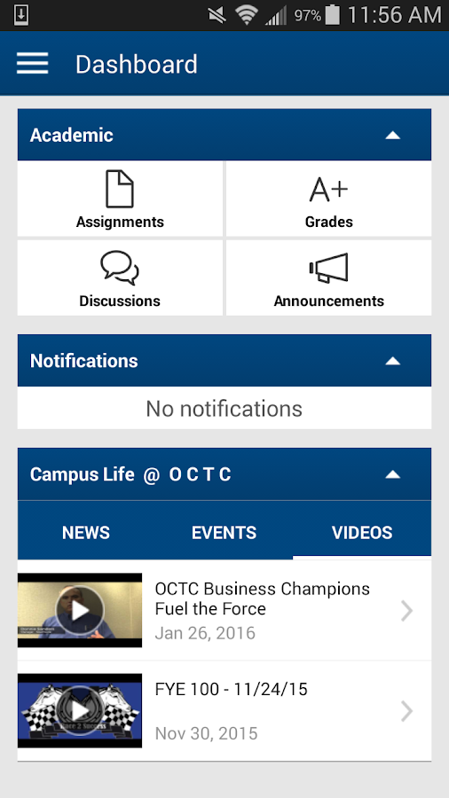 KCTCS- screenshot