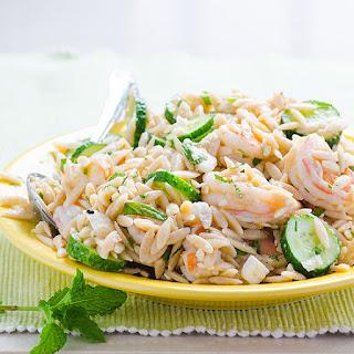 Feta, Herb and Shrimp Orzo Salad