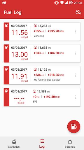 Car Fuel Log - Mileage tracker Screenshot