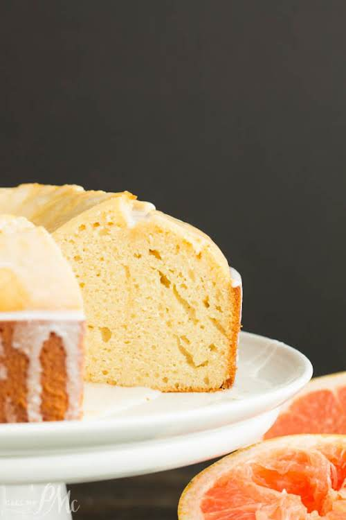 "Ruby Red Grapefruit Pound Cake""Ruby Red Grapefruit Pound Cake recipe, tart and..."