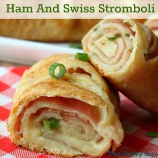 Delicious Ham And Swiss Stromboli