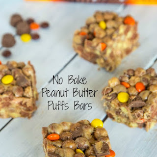 No Bake Peanut Butter Puffs Bars