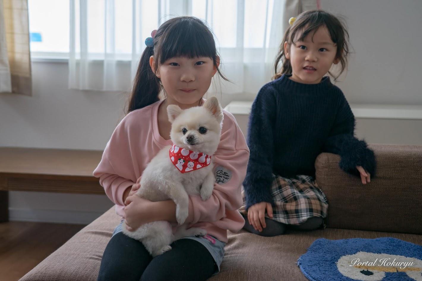 ひなた ちゃん(7)・心寧(ここね)ちゃん(5)とナナちゃん