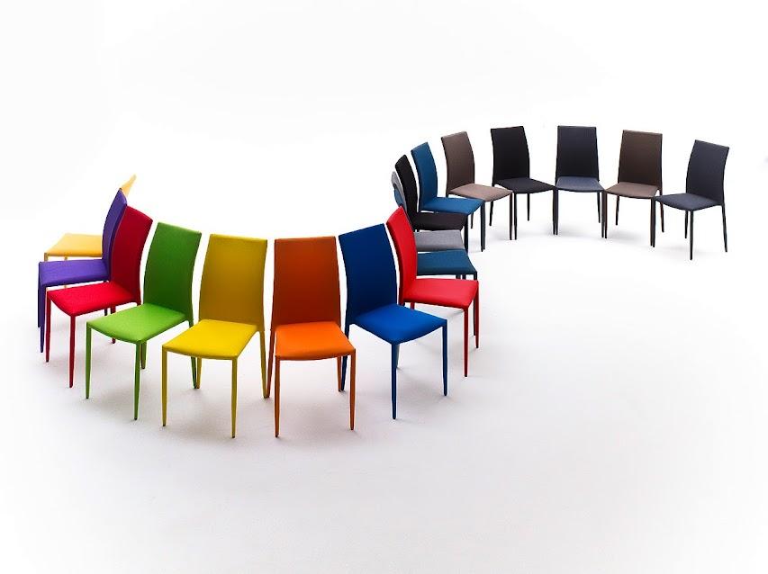 Set di sei sedie colorate padova sedia in 11 colori a for Set sedie cucina