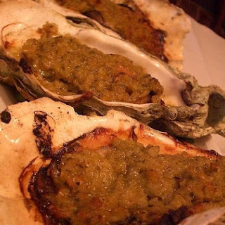 Baked Oysters With Savory Mushroom Herb Crust.