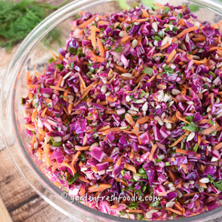 Oil Free Red Cabbage Coleslaw.