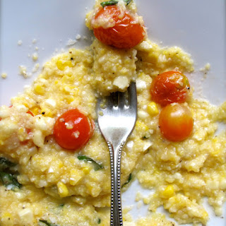 Polenta with Corn and Roasted Tomatoes