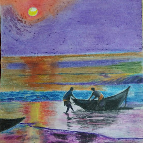 At the end of a day by Satyabrata Paul - Drawing All Drawing (  )