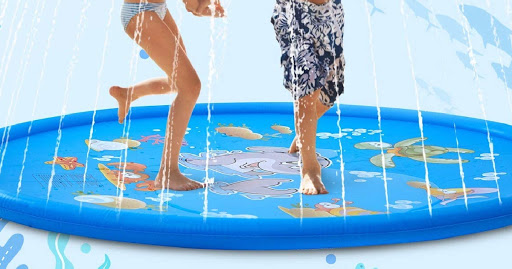 Kids 68″ Splash Pad Mat Just $14.99 + Free Shipping for Amazon Prime Members