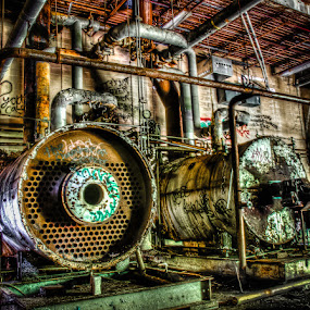 Boiler Room by Joe Palisi - Buildings & Architecture Other Interior ( urbex, hdr )
