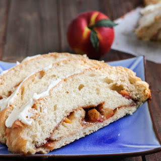 Cinnamon Swirl Peach Bread #breadbakers