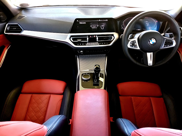 A positively classy, roomy and ergonomic interior found in the M340i xDrive. Picture: PHUTI MPYANE