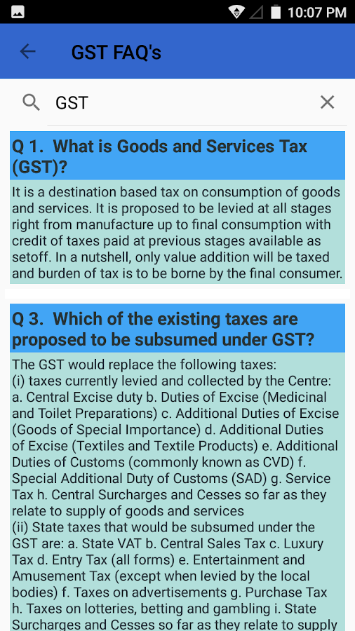 GST Quick Reference- screenshot