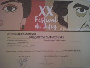 Photo: 2016r. kurs techniki Clasico Espanol prof. Gala Vivancos; (15 godzin); XX Festival de Jerez