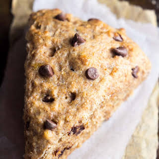 Clean Chocolate Chip Banana Bread Scones.