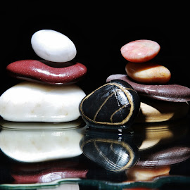 Wet Stones by Peter Salmon - Artistic Objects Other Objects
