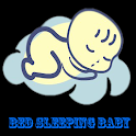 bed sleeping baby icon