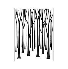 Darice Embossing Folder 4.25X5.75 - Thin Tree Trunks Background