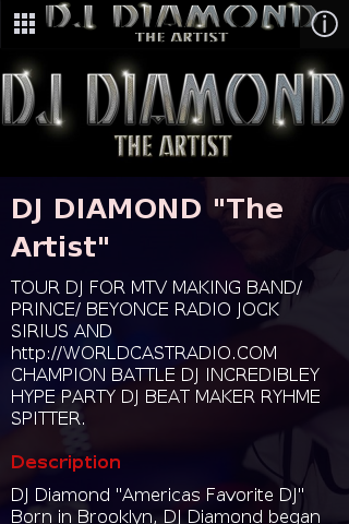 DJ DIAMOND the Artist- screenshot