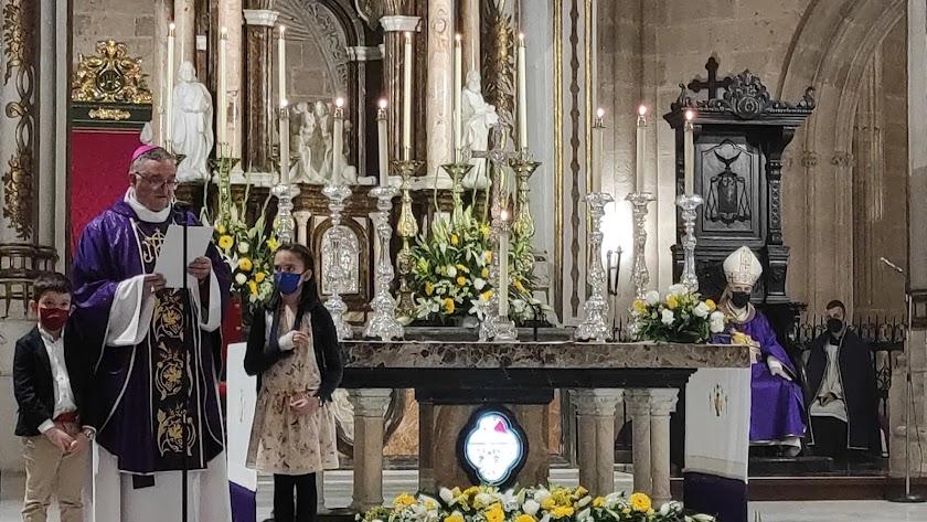 Toma de posesión de Gómez Cantero como obispo coadjutor de Almería el pasado marzo.