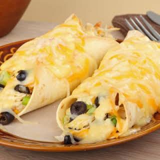 Creamy Crockpot Chicken Enchiladas.