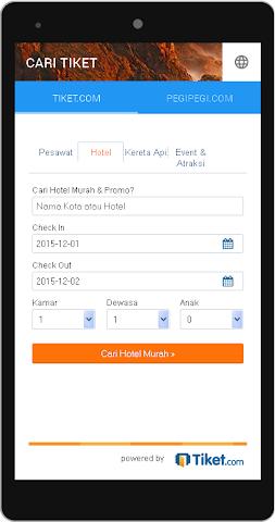android Cari Tiket Screenshot 1