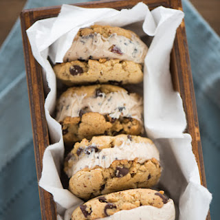 Hazelnut Chocolate Chip Gelato Sandwiches
