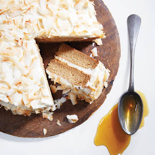 Coconut Cake with Lime Cream Cheese Frosting.