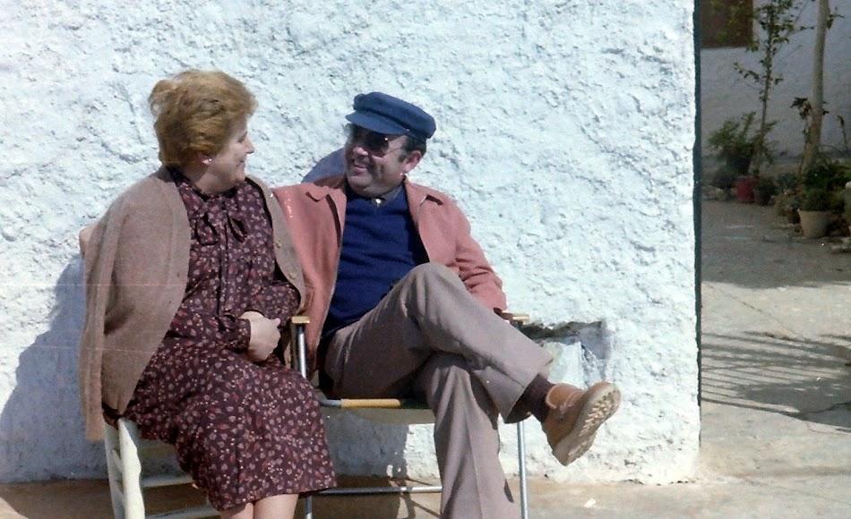 Miguel Romero junto a su mujer Remedios.  Fuente: Archivo Fotográfico Romero.